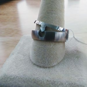 Jewelry - Stainless Steel Puzzle Ring Size 12-1/2